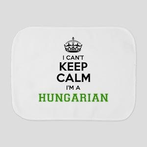 Hungarian I cant keeep calm Burp Cloth