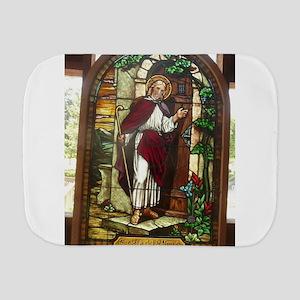 church window stained glass Burp Cloth