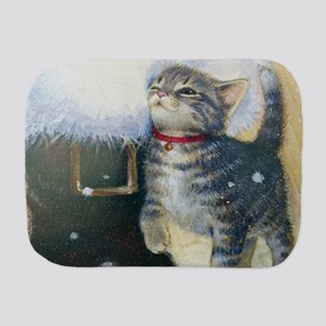 Kitten at Santa's Boot Burp Cloth