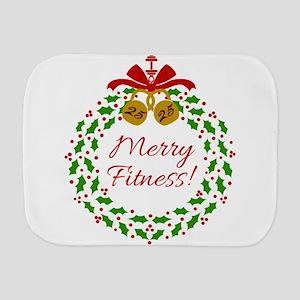 Merry Fitness Wreath Burp Cloth