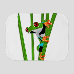 Cute frog on grass Burp Cloth