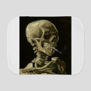 Skull of a Skeleton with Burning Cigarette Burp Cl