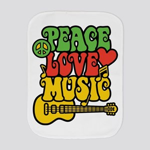 Peace-Love-Music Burp Cloth