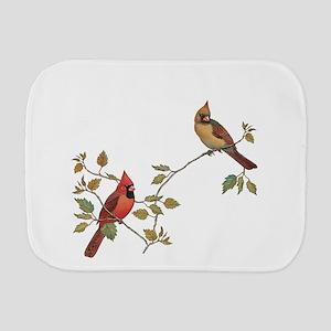 Cardinal Couple Burp Cloth