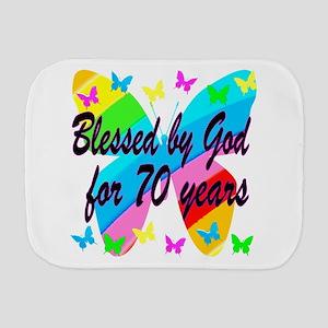70TH BLESSING Burp Cloth