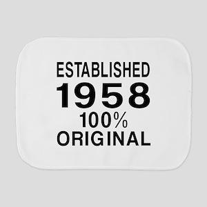 Established 1958 Burp Cloth