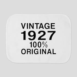 Vintage 1927 Birthday Designs Burp Cloth