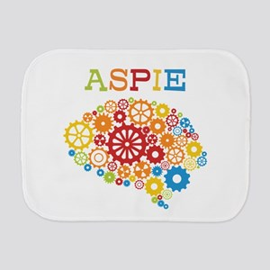 Aspie Brain Autism Burp Cloth