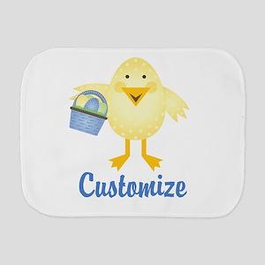 Custom Easter Chick Burp Cloth
