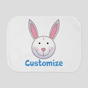 Custom Easter Bunny Burp Cloth
