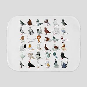 36 Pigeon Breeds Burp Cloth