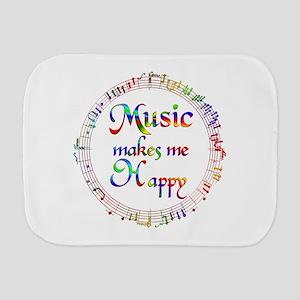 Music makes me Happy Burp Cloth