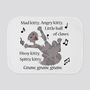 Mad Kitty Angry Kitty Burp Cloth