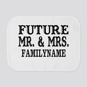 Future Mr. and Mrs. Personalized Burp Cloth