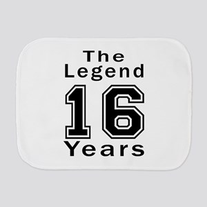 16 Legend Birthday Designs Burp Cloth