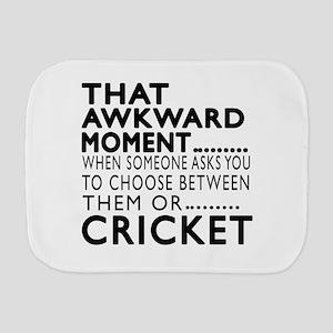 Cricket Awkward Moment Designs Burp Cloth