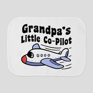 Grandpa's Little Co-Pilot Burp Cloth