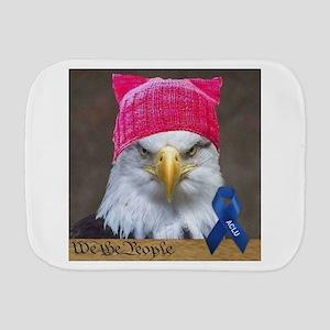 Eagle in Pussyhat ACLU Burp Cloth