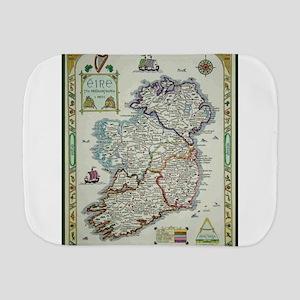 Ireland Map - Irish Eire Erin Historic Burp Cloth