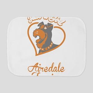 Airedale Terrier Burp Cloth