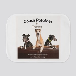 Couch Potatoes in Training Burp Cloth