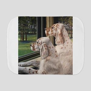 English Setter Puppies Burp Cloth