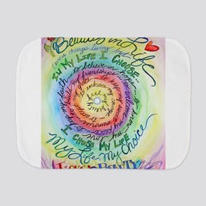 Beauty in Life Cancer Support Poem Burp Cloth