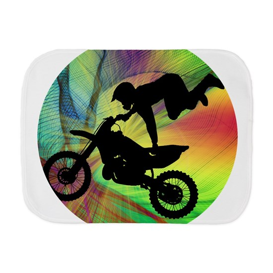 Motocross in Psychedelic Spider Web