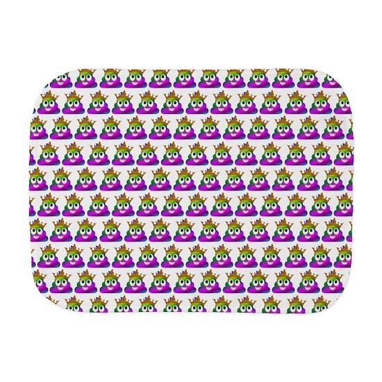 Princess Crown Rainbow Emoji Poop Burp Cloth
