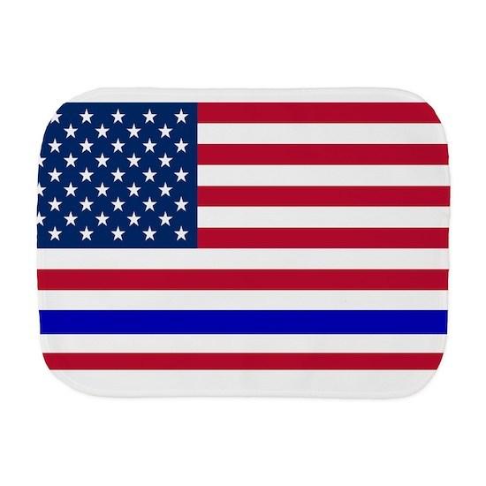 I support Law Enforcement American Flag Burp Cloth