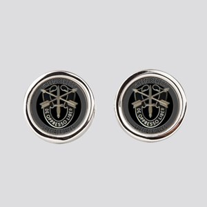 Special Forces Green Berets Round Cufflinks