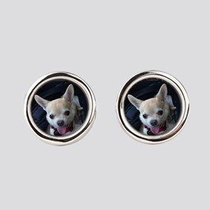 Personalized Pet Round Cufflinks