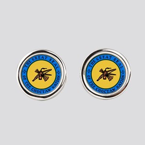 Great Seal Of The Choctaw Nation Round Cufflinks