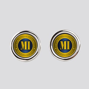 Michigan Gold Label Round Cufflinks