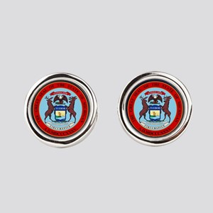 Michigan Seal Round Cufflinks