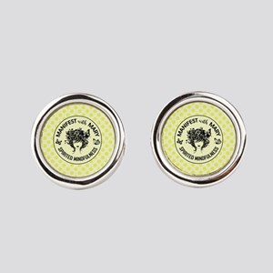 MANIFEST WITH MARY Round Cufflinks