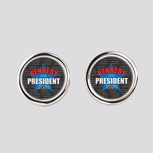 Kennedy for President 2020 Round Cufflinks