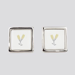 Champagne Flutes Square Cufflinks