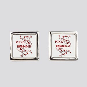 P.T.S.D. AWARENESS Square Cufflinks