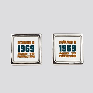 Established In 1969 Square Cufflinks