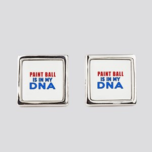 Paint Ball Is In My DNA Square Cufflinks