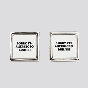 Sorry, I'm Allergic To Bullshit Cufflinks