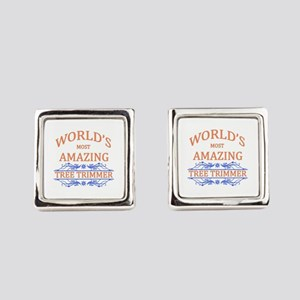 Tree Trimmer Square Cufflinks