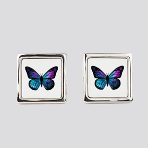 Galactic Butterfly Square Cufflinks