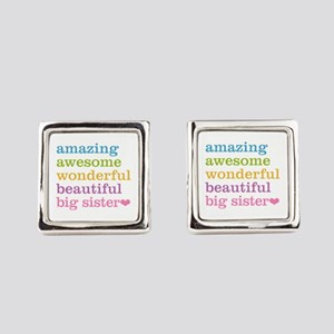 Big Sister - Amazing Awesome Square Cufflinks