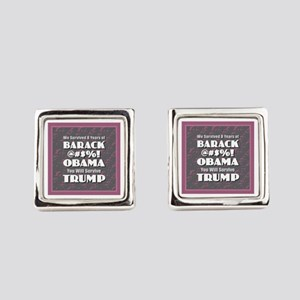 Survived Obama - Trump Square Cufflinks