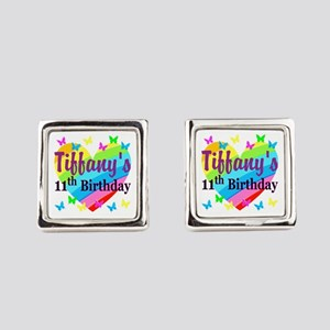 PERSONALIZED 11TH Square Cufflinks