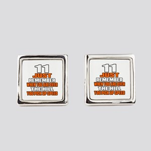 11 Just Remember Birthday Designs Square Cufflinks
