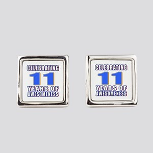 11 Years Of Awesomeness Square Cufflinks