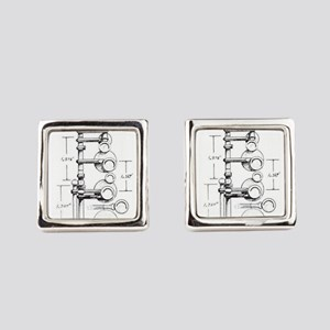 1939 Selmer Paris Balanced Action Square Cufflinks